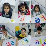 Elele E harfi öğreniyorlar